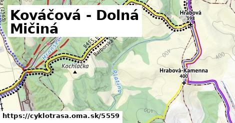 ilustračný obrázok k Kováčová - Dolná Mičiná
