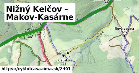 ilustračný obrázok k Nižný Kelčov - Makov-Kasárne
