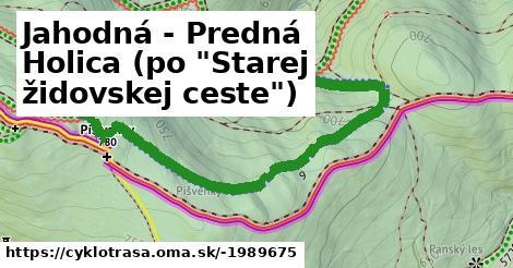 """ilustračný obrázok k Jahodná - Predná Holica (po """"Starej židovskej ceste"""")"""