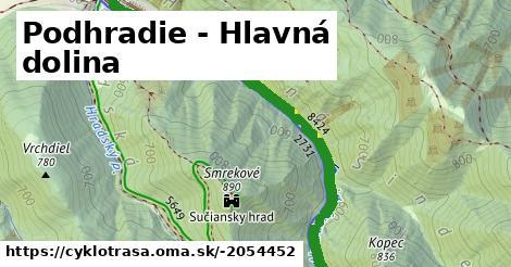ilustračný obrázok k Podhradie - Hlavná dolina