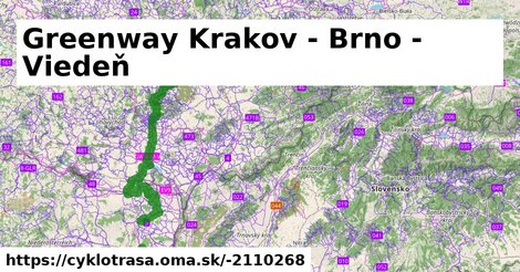Greenway Krakov - Brno - Viedeň