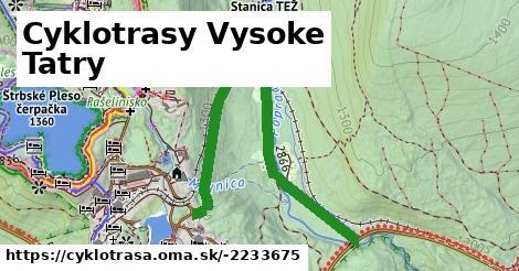 ilustračný obrázok k Cyklotrasy Vysoke Tatry