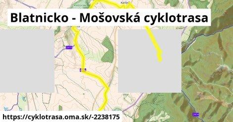 Blatnicko - Mošovská cyklotrasa