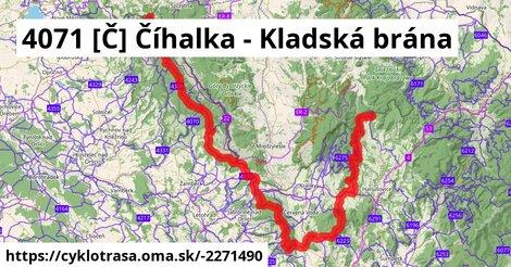 4071 [Č] Číhalka - Kladská brána
