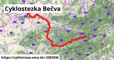 Cyklostezka Bečva (Vsetínská)