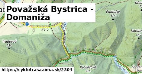 ilustračný obrázok k Považská Bystrica - Domaniža