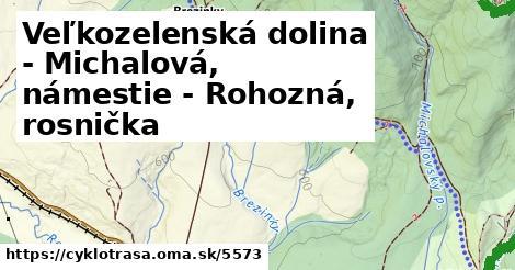 ilustračný obrázok k Veľkozelenská dolina - Michalová, námestie - Rohozná, rosnička