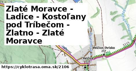 ilustračný obrázok k Zlaté Moravce - Ladice - Kostolany pod Tríbečom - Zlatno - Zlaté Moravce