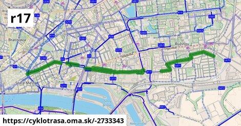 Cyklotrasa R17: Prievozská radiála (plánovaná)