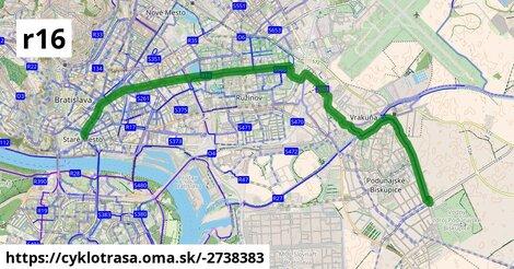 Cyklotrasa R16: Ružinovská radiála (plánovaná)