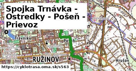ilustračný obrázok k Spojka Trnávka - Ostredky - Pošeň - Prievoz