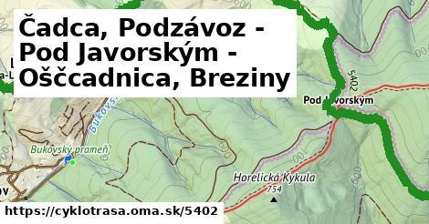 ilustračný obrázok k Čadca, Podzávoz - Pod Javorským - Oščcadnica, Breziny