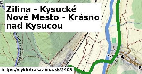 ilustračný obrázok k Žilina - Kysucké Nové Mesto - Krásno nad Kysucou