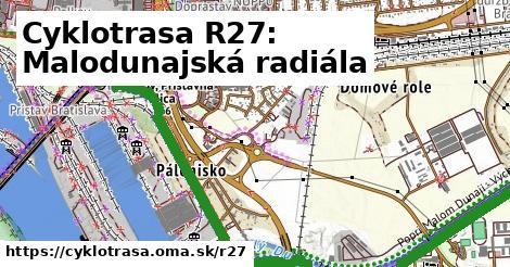ilustračný obrázok k Cyklotrasa R27: Malodunajská radiála