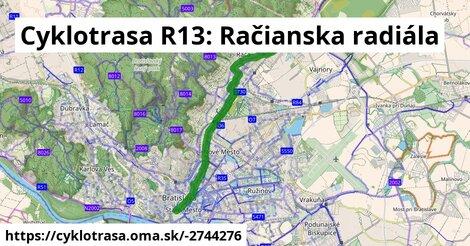 ilustračný obrázok k Cyklotrasa R13: Račianska radiála