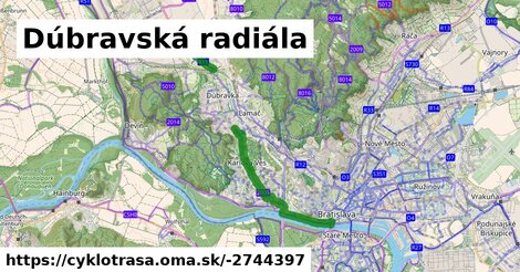 ilustračný obrázok k Cyklotrasa R11: Dúbravská radiála