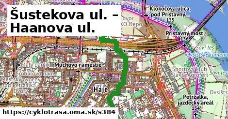 ilustračný obrázok k Šustekova ul. – Haanova ul.