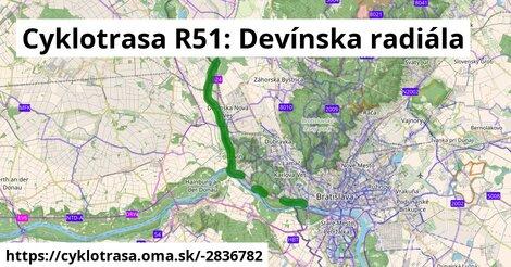 Cyklotrasa R51: Devínska radiála