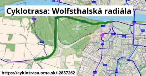 Cyklotrasa: Wolfsthalská radiála