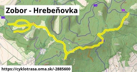ilustračný obrázok k Zobor - Hrebeňovka