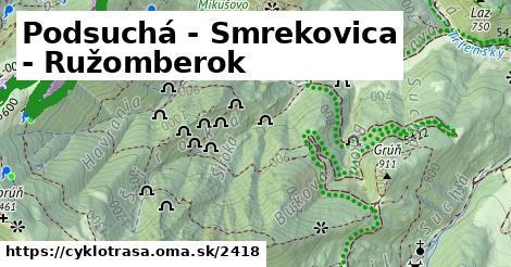 ilustračný obrázok k Podsuchá - Smrekovica - Ružomberok