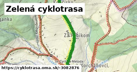ilustračný obrázok k Zelená cyklotrasa