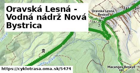 ilustračný obrázok k Oravská Lesná - Ku vodnej nádrži Nová Bystrica
