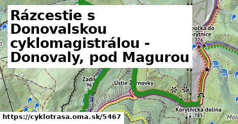 ilustračný obrázok k Rázcestie s Donovalskou cyklomagistrálou - Donovaly, pod Magurou