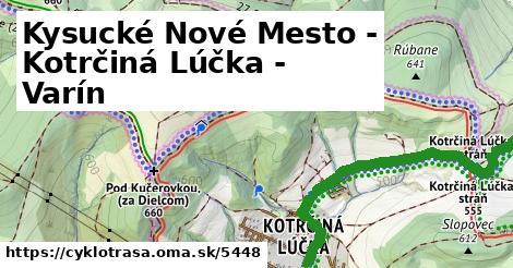 ilustračný obrázok k Kysucké Nové Mesto - Kotrčiná Lúčka - Varín
