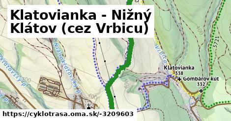 ilustračný obrázok k Klatovianka - Nižný Klátov (cez Vrbicu)