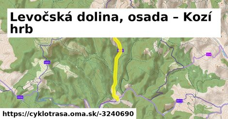 ilustračný obrázok k Levočská dolina, osada – Kozí hrb