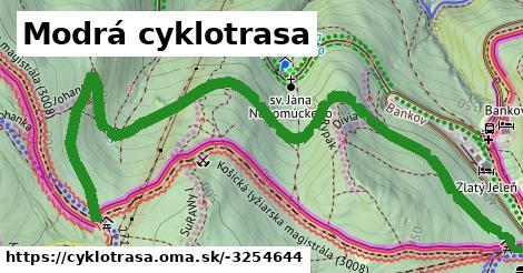 ilustračný obrázok k Modrá cyklotrasa