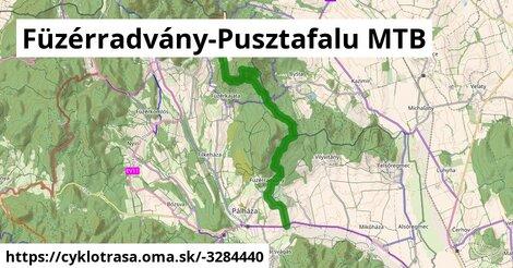 ilustračný obrázok k Füzérradvány-Pusztafalu MTB