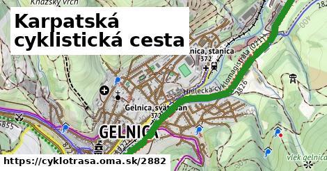 ilustračný obrázok k Karpatská cyklistická cesta