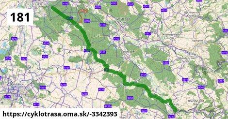 181 (Jičín) - Obora u Chomutic - Stěžery - (Hradec Králové) - Choceň
