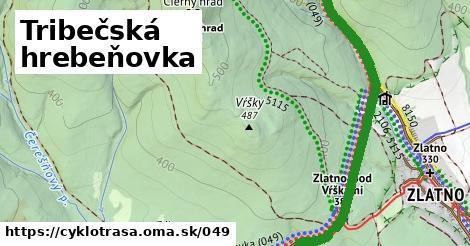 ilustračný obrázok k Tribečská hrebeňovka