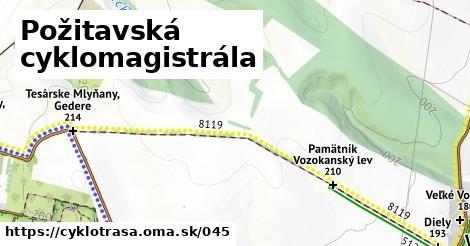 ilustračný obrázok k Požitavská cyklomagistrála