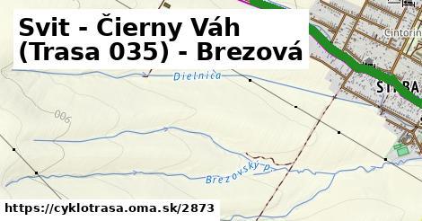 ilustračný obrázok k Svit - Čierny Váh (Trasa 035)