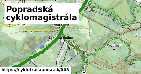 ilustračný obrázok k Popradská cyklomagistrála