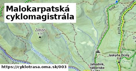 ilustračný obrázok k Malokarpatská cyklomagistrála
