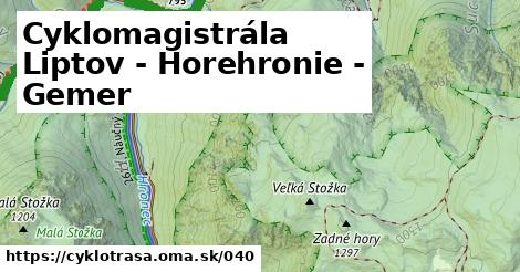 ilustračný obrázok k Cyklomagistrála Liptov - Horehronie - Gemer