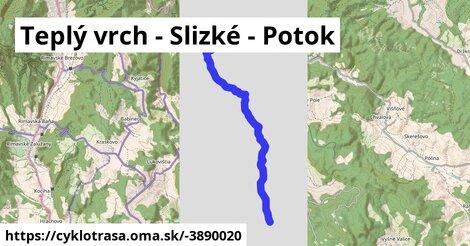 ilustračný obrázok k Teplý vrch - Slizké - Potok