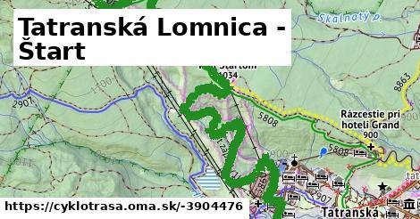 ilustračný obrázok k Tatranská Lomnica - Štart