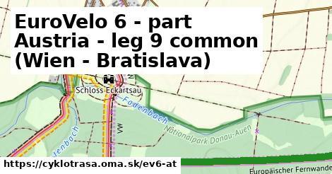 ilustračný obrázok k EuroVelo 6 - part Austria - leg 9 common (Wien - Bratislava)