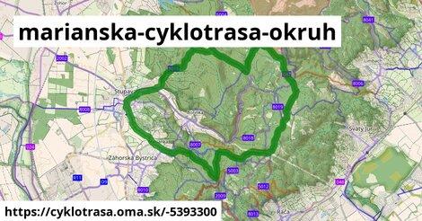 ilustračný obrázok k Marianska cyklotrasa - okruh č. 5 - Karpatský okruh
