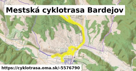 ilustračný obrázok k Mestská cyklotrasa Bardejov
