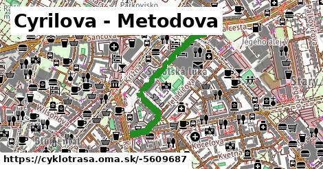 Cyklotrasa S250: Cyrilova - Metodova
