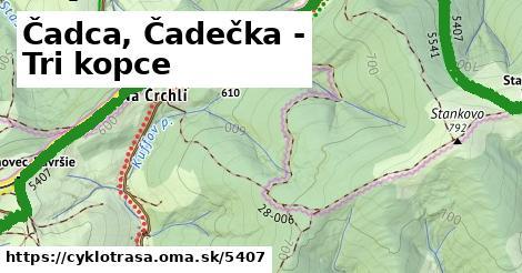 ilustračný obrázok k Čadca, Čadečka - Tri kopce