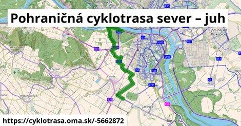 ilustračný obrázok k Pohraničná cyklotrasa sever – juh