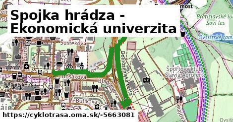 Spojka hrádza - Ekonomická univerzita